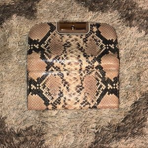 Snakeskin Authentic Coach Wallet